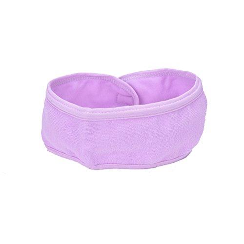 XENO-Wash Face Makeup SPA Womens Sweat Elastic Soft headbands Hair Band QW(purple)