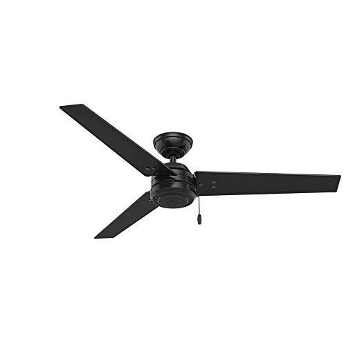 Hunter 52 in. Outdoor Industrial Ceiling fan in Matte Black, 3-Blade (Certified Refurbished)