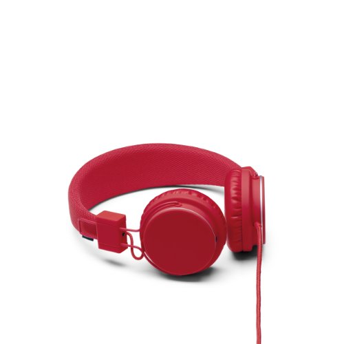 UrbanEars Plattan Over The Ear Headphones for iPhone iPod Touch Android - Tomato