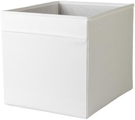 DRÖNA white Box, Größe 33 x 38 x 33 cm, perfekt für Zeitungen alles vom an der Kleidung.