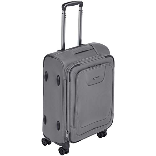 AmazonBasics Expandable Softside Carry-On Spinner Luggage Suitcase With TSA Lock And Wheels - 21 Inch, -