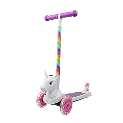 Dimensions 3D Unicorn Self Balancing Scooter ACTSCOT-471UN | Toddler Scooter & Kids Scooter, 3 Wheel Platform, Foot Activated Brake, 75 lbs Weight Limit, for Ages 3 and Up : Sports & Outdoors