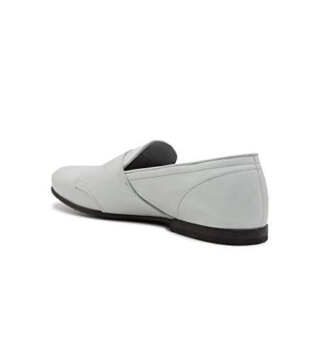 15920dgrey Leqarant Zapatos Hombre Cuero Monk Con Correa Gris BFx5FqwAv6