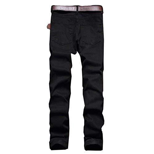 Da Uomo Tinta Strappato Casual Slim Cargo Black06 Denim Unita Fashion Pants Comode Jeans Skinny Abiti Vintage Pantaloni Taglie Biker YfwHY