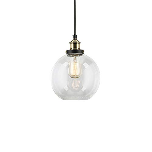 Clear Glass Globe Pendant Light in US - 4