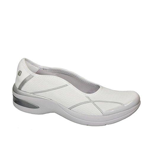 Bzees Ruby Slip-on Athleisure 524-740 Blanco Plata