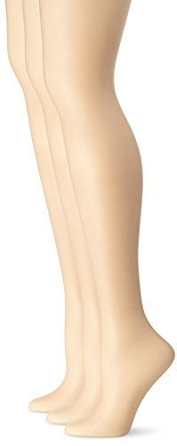 L'eggs Women's Silken 3 Pack Ultra Sheer Run Resist Panty Hose, Nude, B