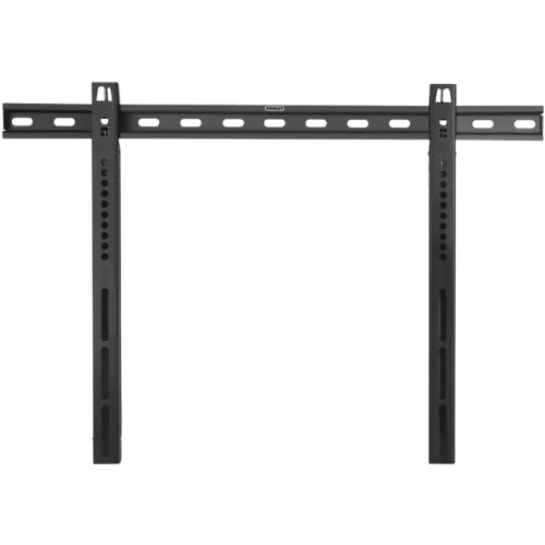 Stanley TV Wall Mount - Super Slim Design Fixed Mount for Large Flat Panel Television - Flat Panel Mounting System Black