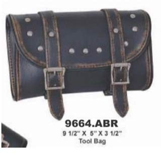 (Motorcycle real leather studded TOOL BAG)