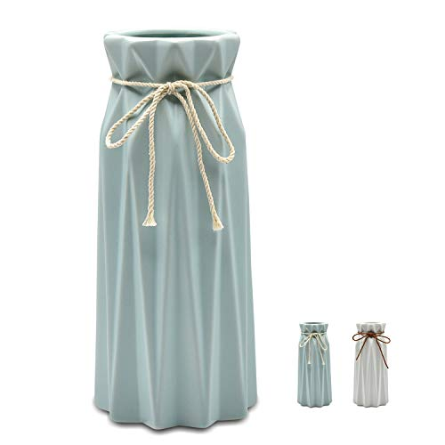 Mozing Ceramic vase Origami Design Decorative vase is Suitable for The Sitting Room Bedroom Office The Wedding -