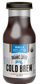 Steep 18, Organic Slightly Sweetneed Vanila Cold Brew Coffee, 9.5 oz, (12 count)
