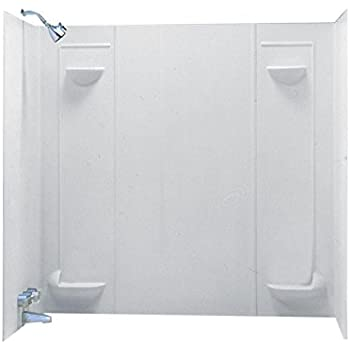 Swanstone TF-57-010 Veritek Five Panel Tub Wall Kit, White Finish ...