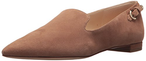 Nine West Women's Andsey Suede Loafer Flat, Natural, 9.5 Medium US (Nine Shoes Women Flat For West)