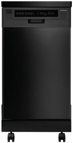 FFPD1821MB 18″ Fully Integrated Portable Dishwasher with 6 Wash Cycles 59 dBA China/Crystal Cycle Stainless Steel Interior SpaceWise Delay Start Energy Star Certified in