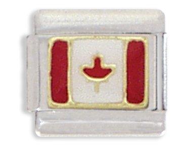 canadian-flag-italian-charm-bracelet-link