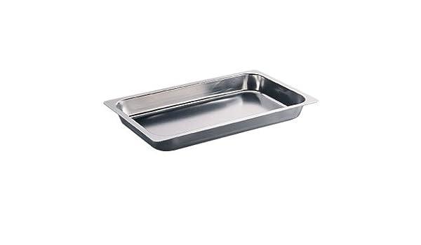 Calibre pesado de acero inoxidable para asar carne asador bandeja Gastronorm - 1/1 20 mm - Ideal para el hogar o de cocina profesional: Amazon.es: Hogar