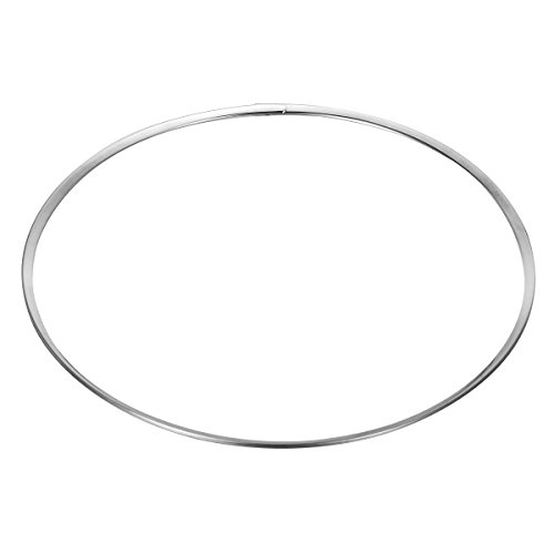 HooAMI Stainless Steel Silver Tone Womens Choker Necklace Collar
