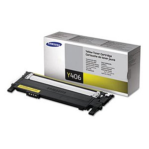 Samsung Genuine Brand Name, OEM CLTY406S (CLT-Y406S) Yellow Toner Cartridge (1K YLD) for CLP-365, CLP-365W, CLX-3305, CLX-3305FN, CLX-3305FW, C410W Printers