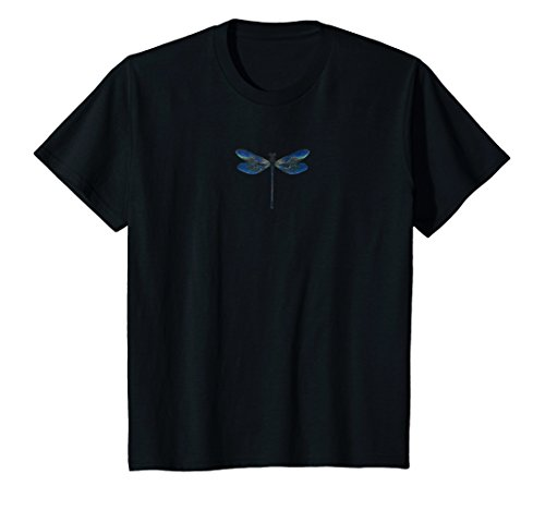 Kids Dragonfly T-shirt for Fans of this Insect, Nature Lovers 4 Black
