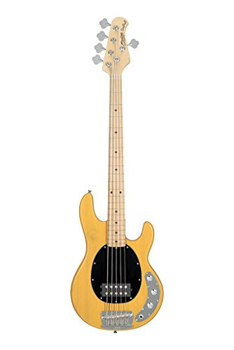 Sterling By MusicMan Sterling by Music Man StingRay Classic Ray25CA Bass Guitar in Butterscotch, 5-String, RAY25CA-BSC-M1)