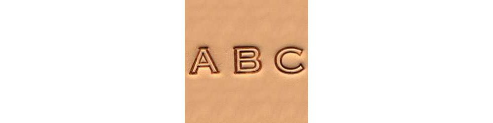 Tandy Leather Craftool� Alphabet Stamp Set 1/4'' (6 mm) Open Face 4909-00 by Tandy Leather