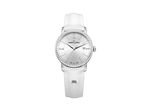 Maurice Lacroix Women's 'Eliros' Swiss Quartz Stainless Steel and Leather Casual Watch, Color:White (Model: - Michael Khor