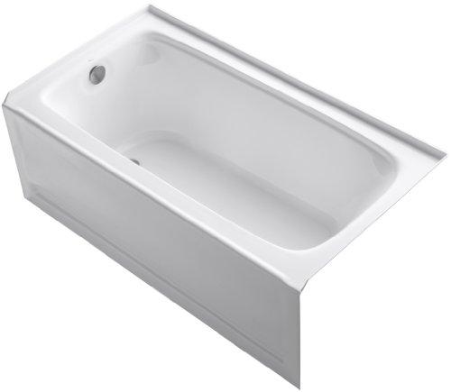 KOHLER K-1150-LA-0 Bancroft 5-Foot Bath with Left-Hand Drain, White