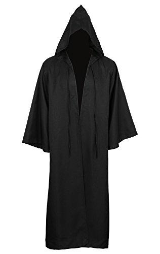 Mantello di cappuccio Cappotto Felpa Halloween Adulti con Per Costume CUSFULL con Cappuccio Nera fCBdwFfIq