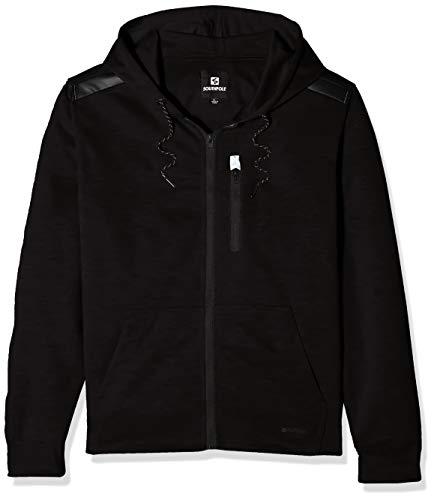 - Southpole Men's Fleece Zip Sweater, Black Basic Tech, 3X-Large
