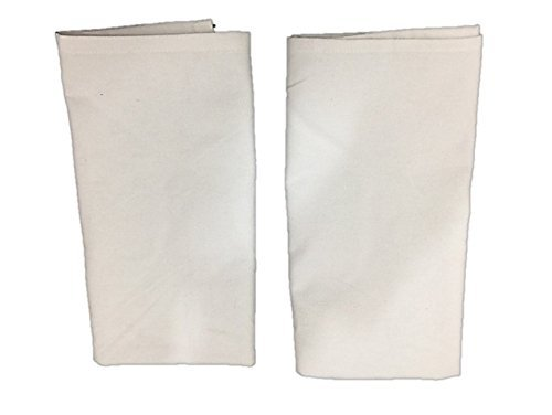 AllAsta Cotton Flour Sack White Tea Kitchen Cloth Linen Towels Set of 2 (Polka Dot Flour Sack Towels)