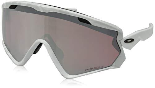 Oakley Men's Wind Jacket 2.0 Non-Polarized Iridium Rectangular Sunglasses, SNOW CAMO, 0 mm