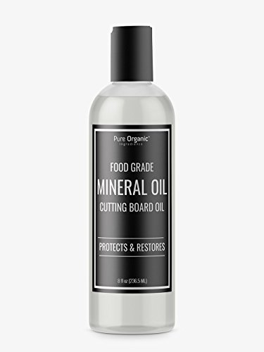 - Mineral Oil (8 oz.) by Pure Organic Ingredients, Food & USP Grade, for Cutting Boards, Butcher Blocks, Counter Tops, Wooden Utensils, More
