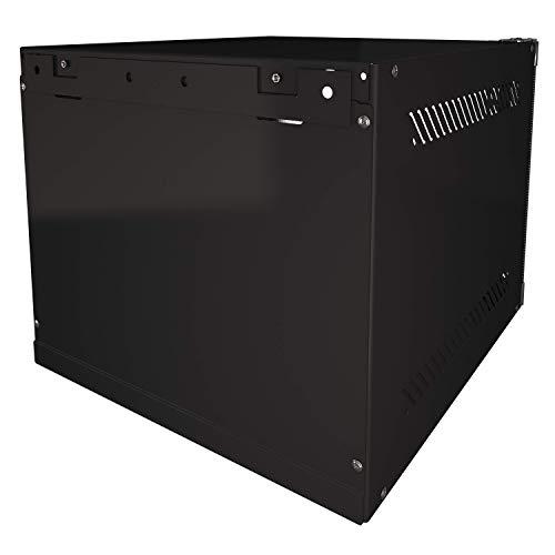 """Portable 10"""" Network Cabinet 4U SOHO Floor/Wall Inch -IT CCTV Server Rackmount -Glass Door Lock"""