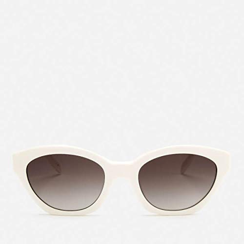 Karl Lagerfeld Womens Oval Frame Sunglasses - White: Amazon ...