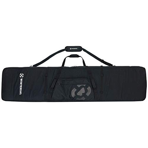 Winterial Double Ski Bag with Wheels, Travel Bag with 5 Storage Compartments, Reinforced Double Padding Perfect for Road Trips and Air Travel, Fits 2 Sets of Skis