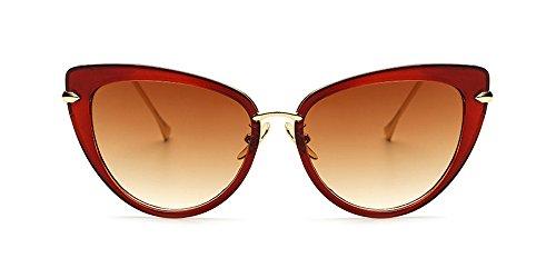 01 Gafas Gran Calidad de gato Vendimia del de tamaño Gafas Ojo la sol Estilo de UV400 KINDOYO Alta de las Mujer Caliente Vendible de de sol AxF1Fw4fq