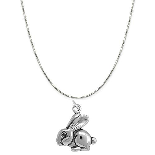 Raposa Elegance Sterling Silver Rabbit Charm on a Sterling Silver 18