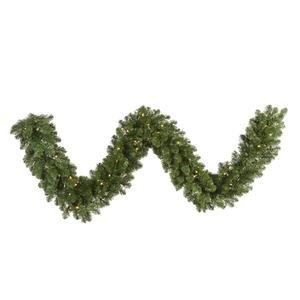 Vickerman 25' Grand Teton Artificial Christmas Garland with 300 Warm White LED Lights