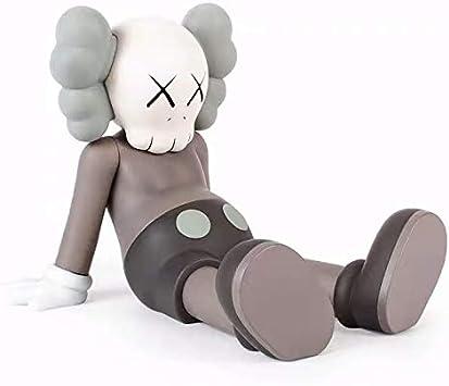 CCLL KAWS Figura!Figura de acción de KAWS Sit Sentado Original Falso Modelo Arte Juguetes de colección Modelo de Juguete de Brown Toys