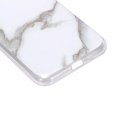 Funda Galaxy J3 2016 (J320F),SainCat Moda Alta Calidad suave de TPU Silicona Suave Funda Carcasa Parachoques Diseño pintado Patrón para Funda TPU Silicona Epoxi goteo prensado Case Cover Caja Suave Ge Piedra blanca de jade