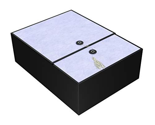 Gift Box Lilac Karma 12x9x4 Pop up in Seconds Comes with Decorative Tassel, Greeting Card, and Tissue Paper - No Glue or Tape Required