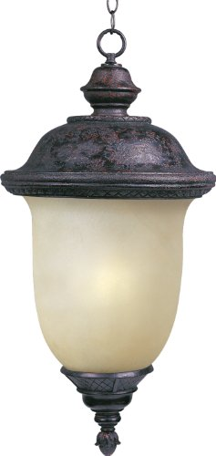 Maxim 85527MOOB Carriage House EE 1-Light Outdoor Hanging Lantern, Oriental Bronze Finish, Mocha Glass, GU24 Fluorescent Fluorescent Bulb , 60W Max., Dry Safety Rating, Standard Dimmable, Glass Shade Material, 1344 Rated Lumens