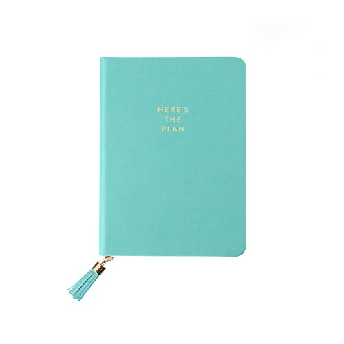 Eccolo Designer Tassel Here's The Plan Hardcover Journal / Notebook, 4x6