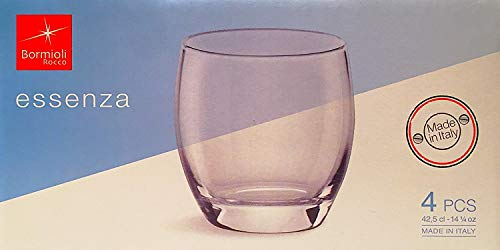 - Essenza 14.25 oz. Double Old Fashioned Glass (Set of 4)