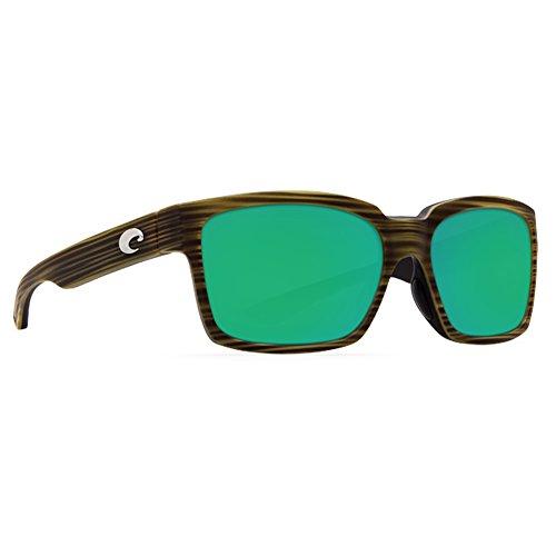 Costa Del Mar Playa Polarized Sunglasses Matte Verde Teak/Black Green Mirror