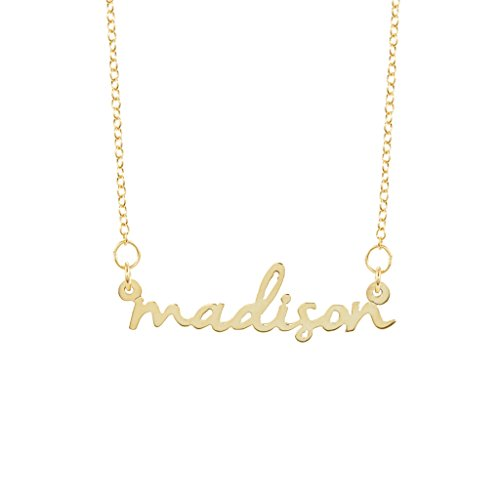 Brook & York Custom Nameplate Name Necklace - Personalized with Your Name (16