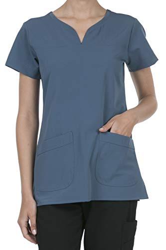 8045 Women's Uniform Scrubs Medical 2 Pocket Scrub Top DK.Denim 1XL ()