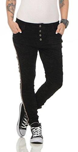 Femme Lexxury noir Bleu 36 Noir Jeans HfwAqaw70