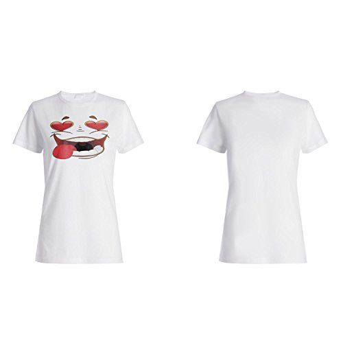 Ich liebe dich smiley neuheit lustige weinlese kunst Damen T-shirt a127f