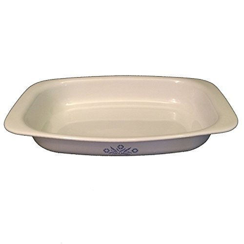 Corning Ware P-21 Open Roaster Cornflower Roasting Pan